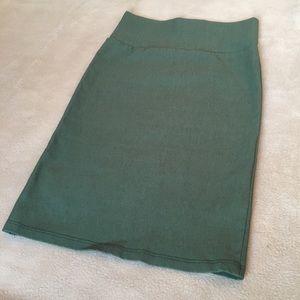 Green Tight Pencil Skirt